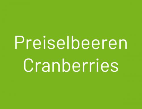 Cranberries |Preiselbeeren